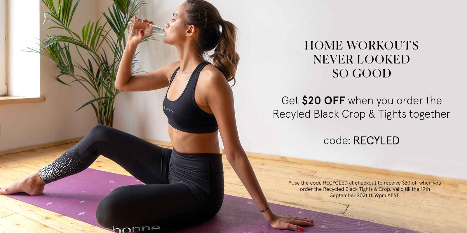 Recycled Leggings and crops offer